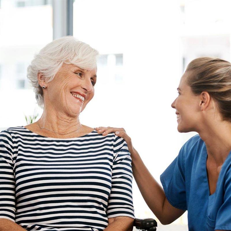 nurse with lady